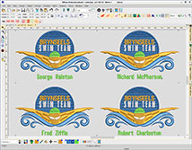 EmbroideryStudio e4 Editing Standard Team Names